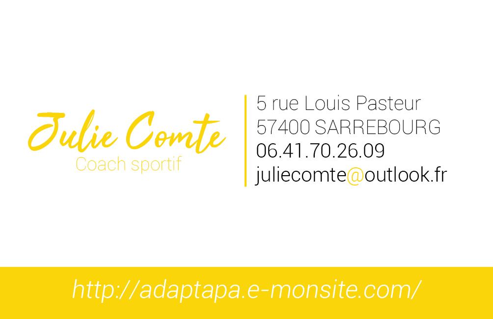 Création carte de visite Julie Comte