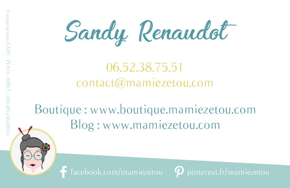 Création carte de visite Mamie Zétou